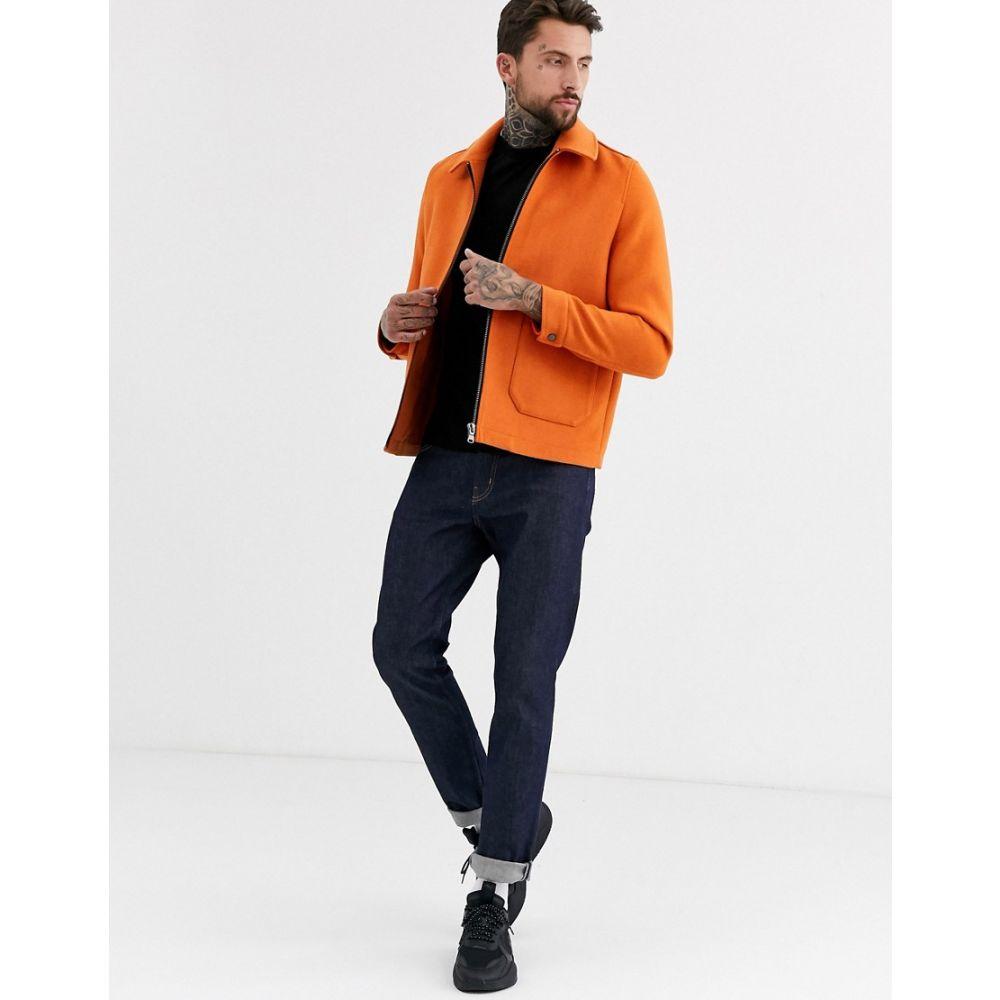 エイソス ASOS DESIGN メンズ ジャケット スイングトップ アウター【wool mix harrington jacket in orange】Orange
