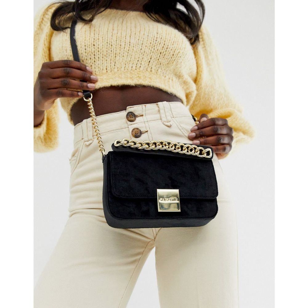カーベラ Carvela レディース ショルダーバッグ バッグ【Effy chain handle across body bag in black】Black