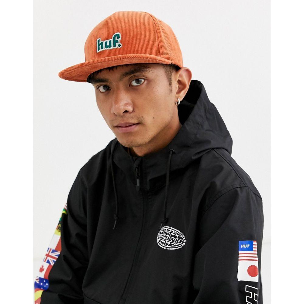 ハフ メンズ 帽子 キャップ Orange 【サイズ交換無料】 ハフ HUF メンズ キャップ スナップバック 帽子【1993 Logo cord snapback hat in orange】Orange