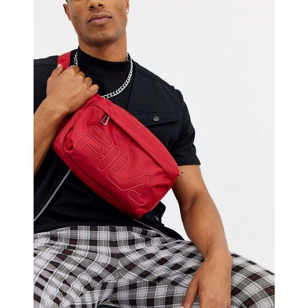 フィラ Fila メンズ ボディバッグ・ウエストポーチ バッグ【Daws waist bag with logo in red】Chinese red