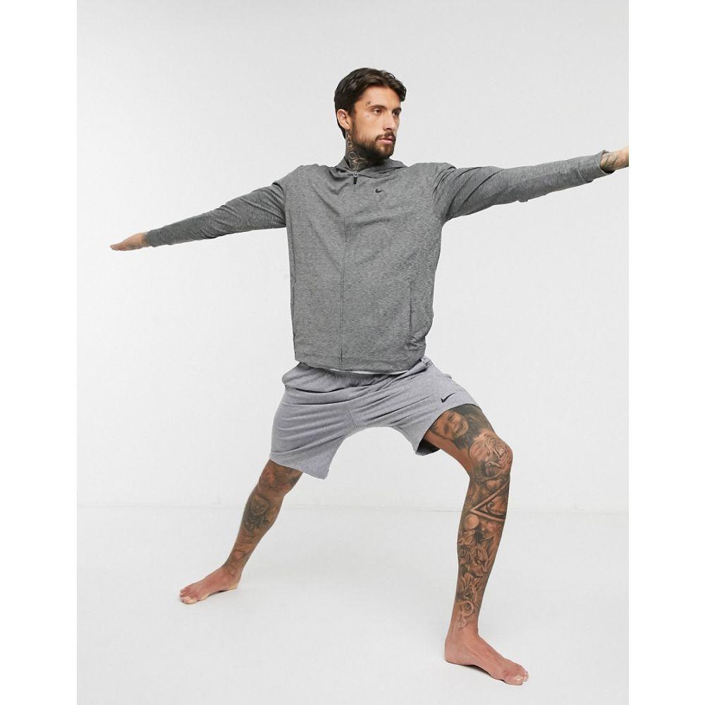 ナイキ Nike Training メンズ ヨガ・ピラティス パーカー トップス【Nike Yoga zip-up hoodie in dark grey】Grey
