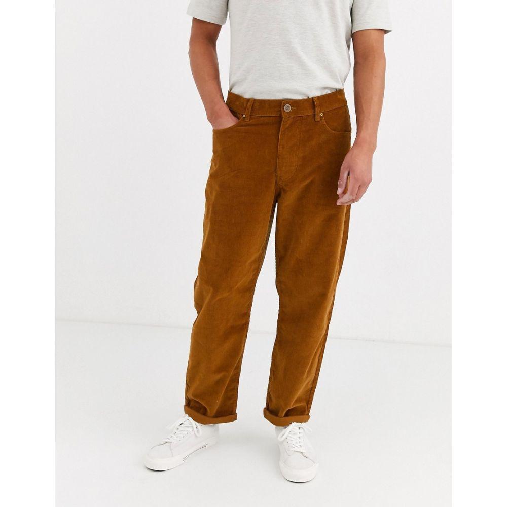 ブルックリン サプライ Brooklyn Supply Co. メンズ スケートボード ボトムス・パンツ【Brooklyn Supply Co wide skate fit trousers in brown】Brown