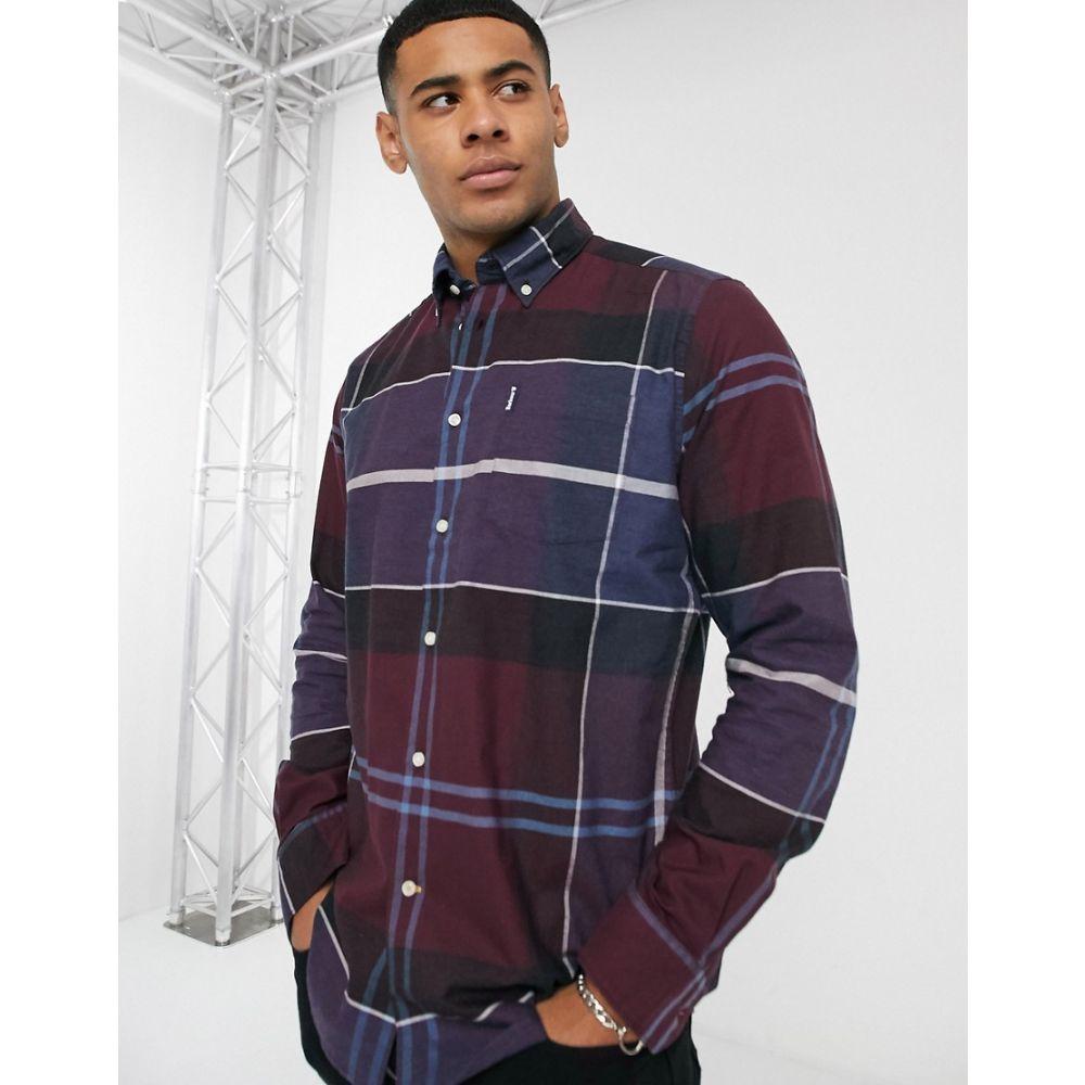 バブアー Barbour メンズ シャツ トップス【Cammich slim fit check shirt in burgundy】Burgandy