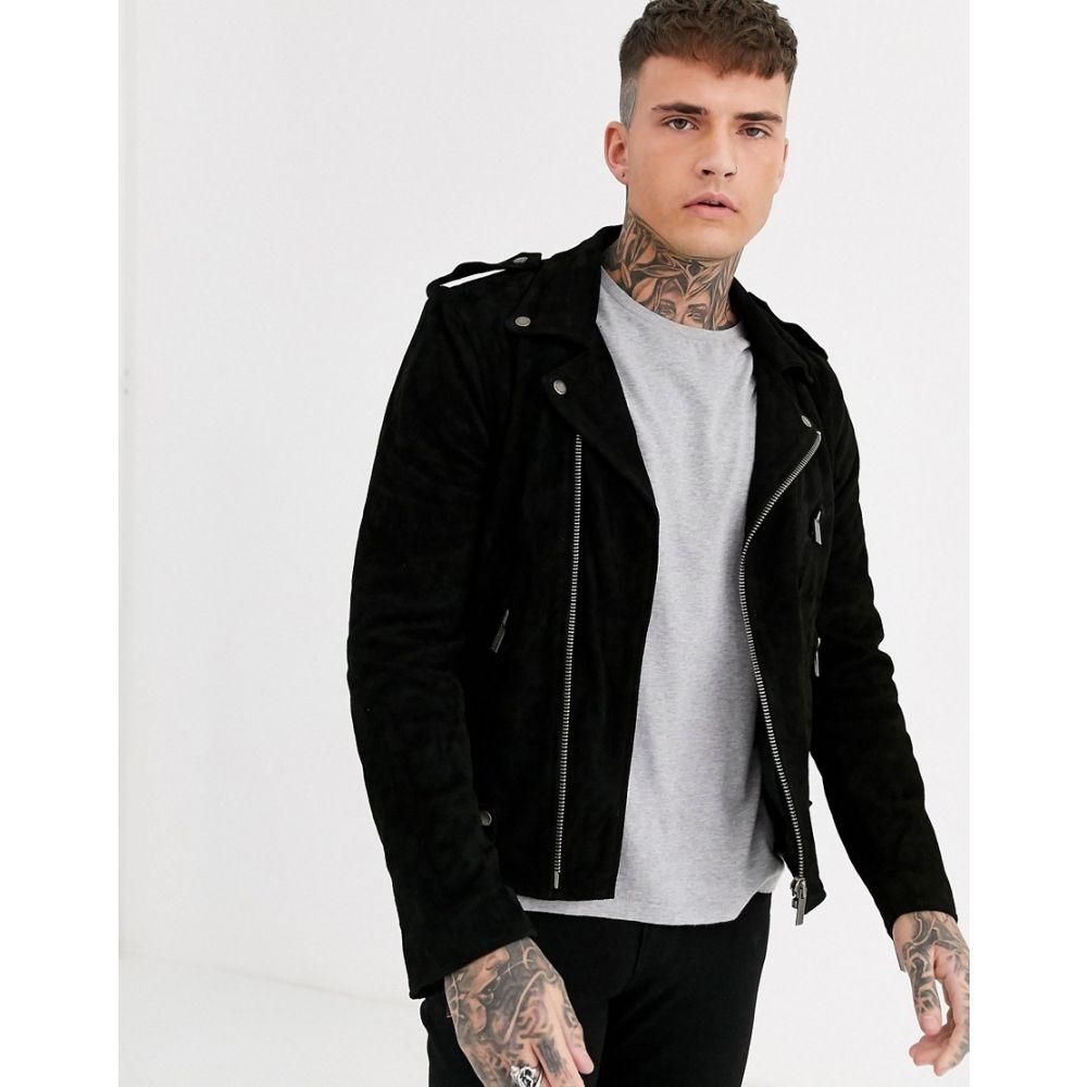 ボロンガロトレバー Bolongaro Trevor メンズ レザージャケット ライダース アウター【suede biker leather jacket】Black