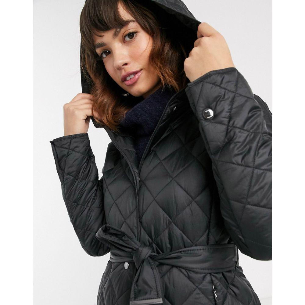 エスプリ Esprit レディース コート フード アウター【quilted coat with hood in black】Black