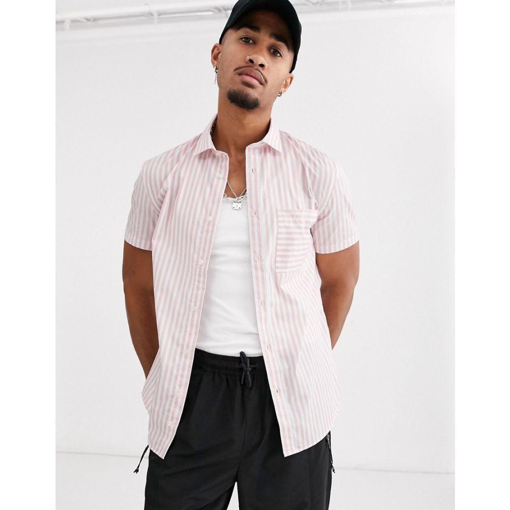 セリオ Celio メンズ シャツ トップス【shirt with vertical stripe in pink】Pink