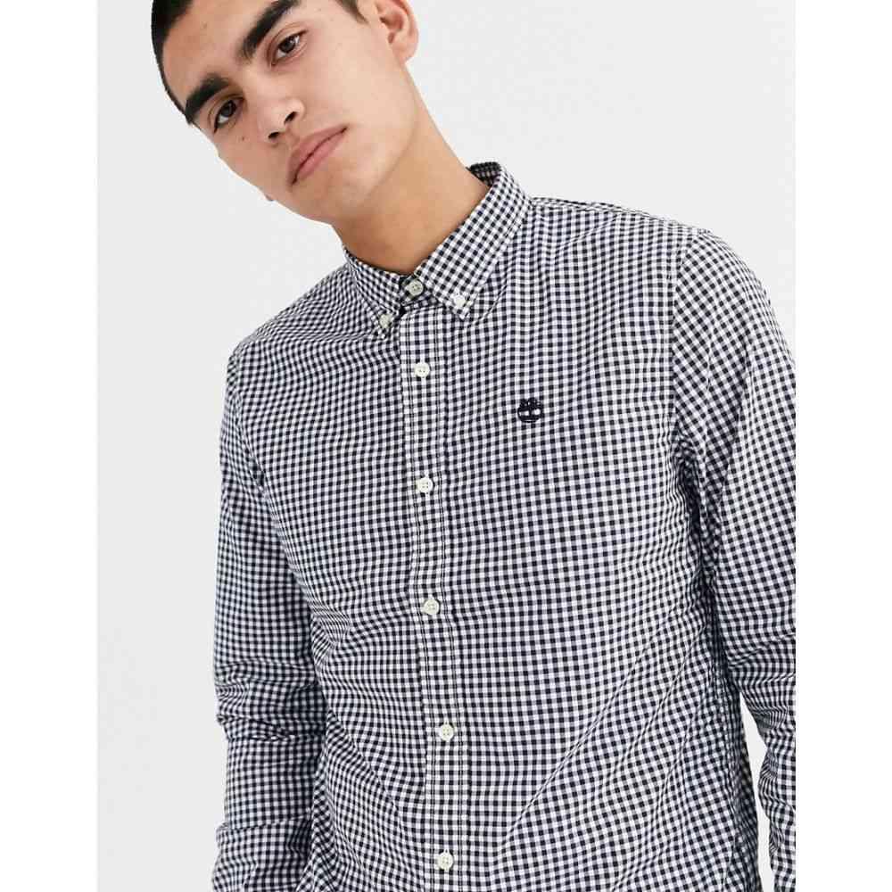 ティンバーランド Timberland メンズ シャツ トップス【gingham long sleeve shirt】Blue