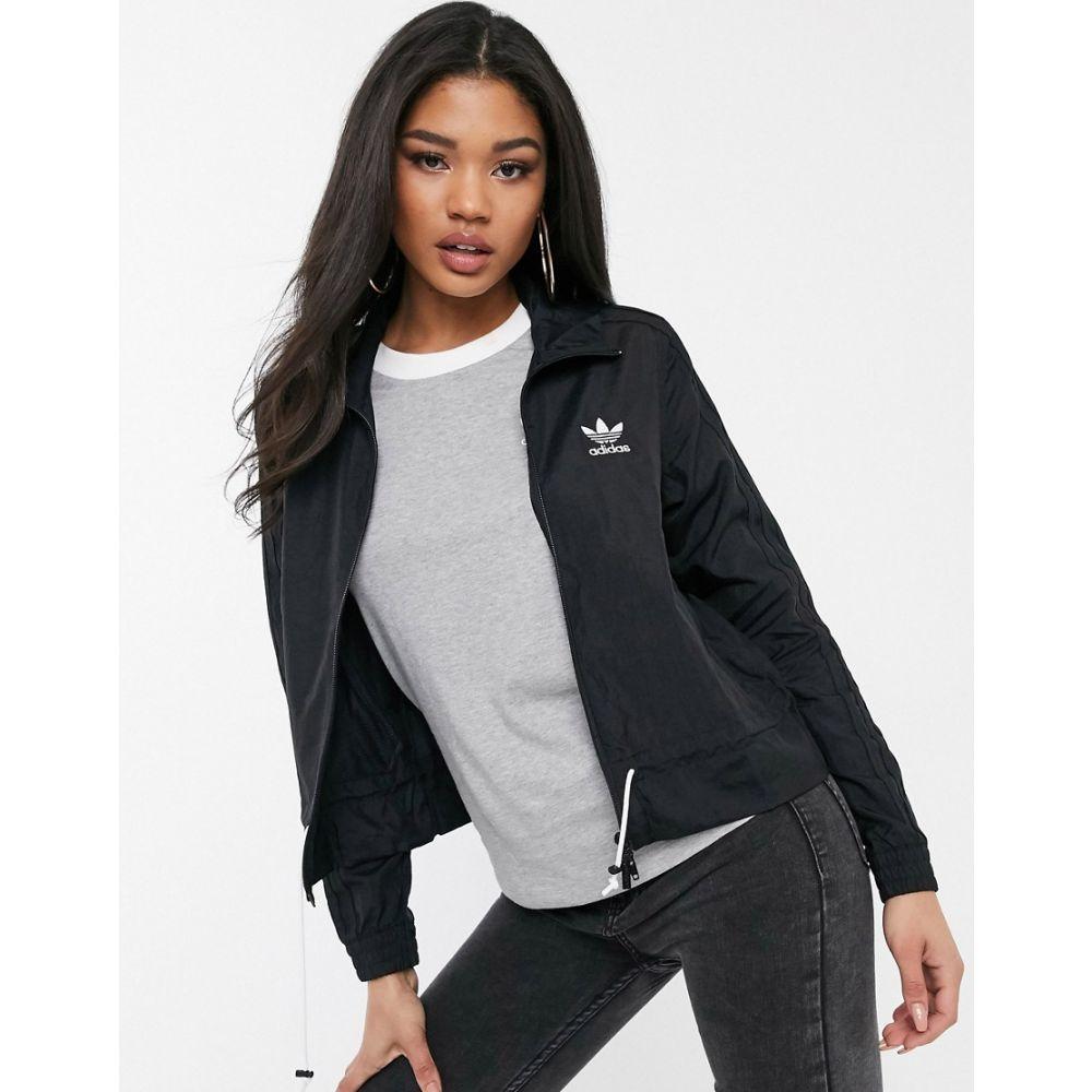 アディダス adidas Originals レディース ジャージ アウター【ruffle track jacket in black】Black