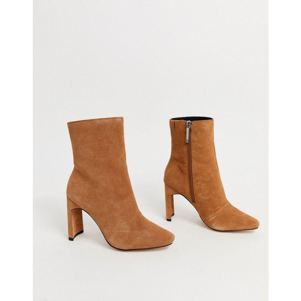 リバーアイランド River Island レディース ブーツ ショートブーツ シューズ・靴【curved heel ankle boot in camel】Camel