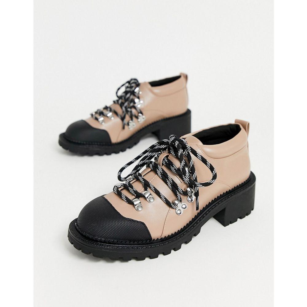 エイソス ASOS DESIGN レディース ハイキング・登山 シューズ・靴【Monitor hiker flat shoes in beige】Beige