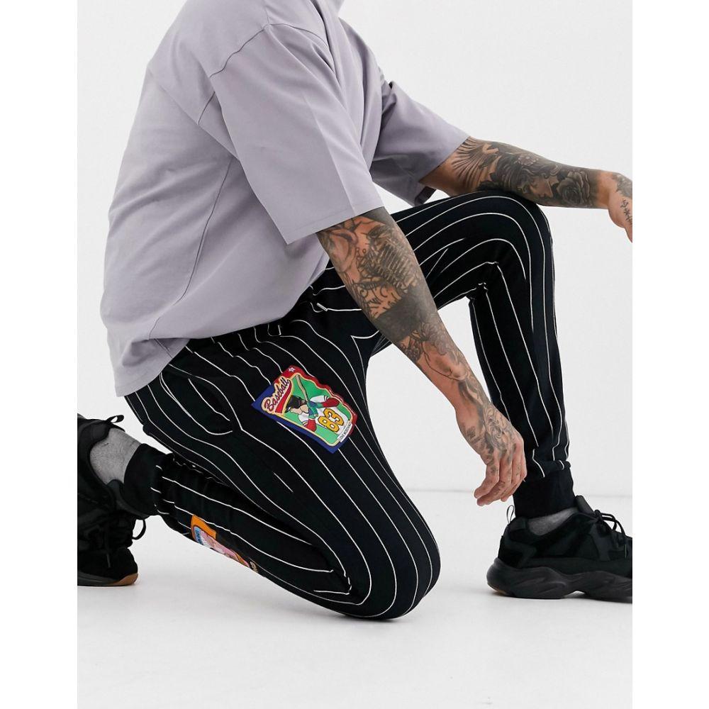 モスキーノ Love Moschino メンズ ジョガーパンツ ボトムス・パンツ【stripe badge joggers】Black