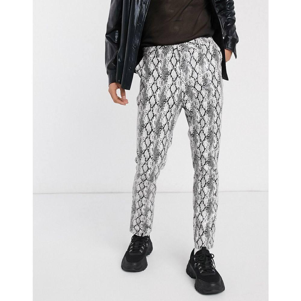 ワンアバーブアナザー One Above Another メンズ ボトムス・パンツ 【patent grey snake straight leg trouser】Grey