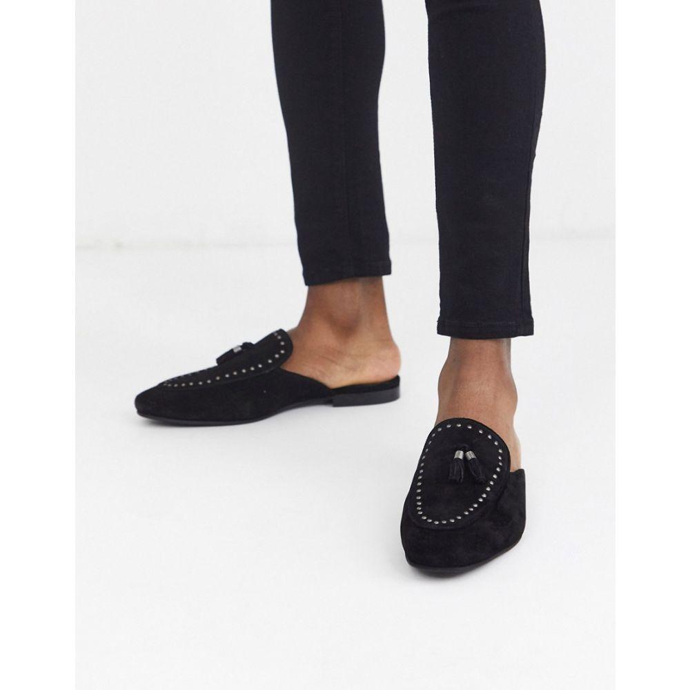 リバーアイランド River Island メンズ ローファー シューズ・靴【backless loafer in black】Black