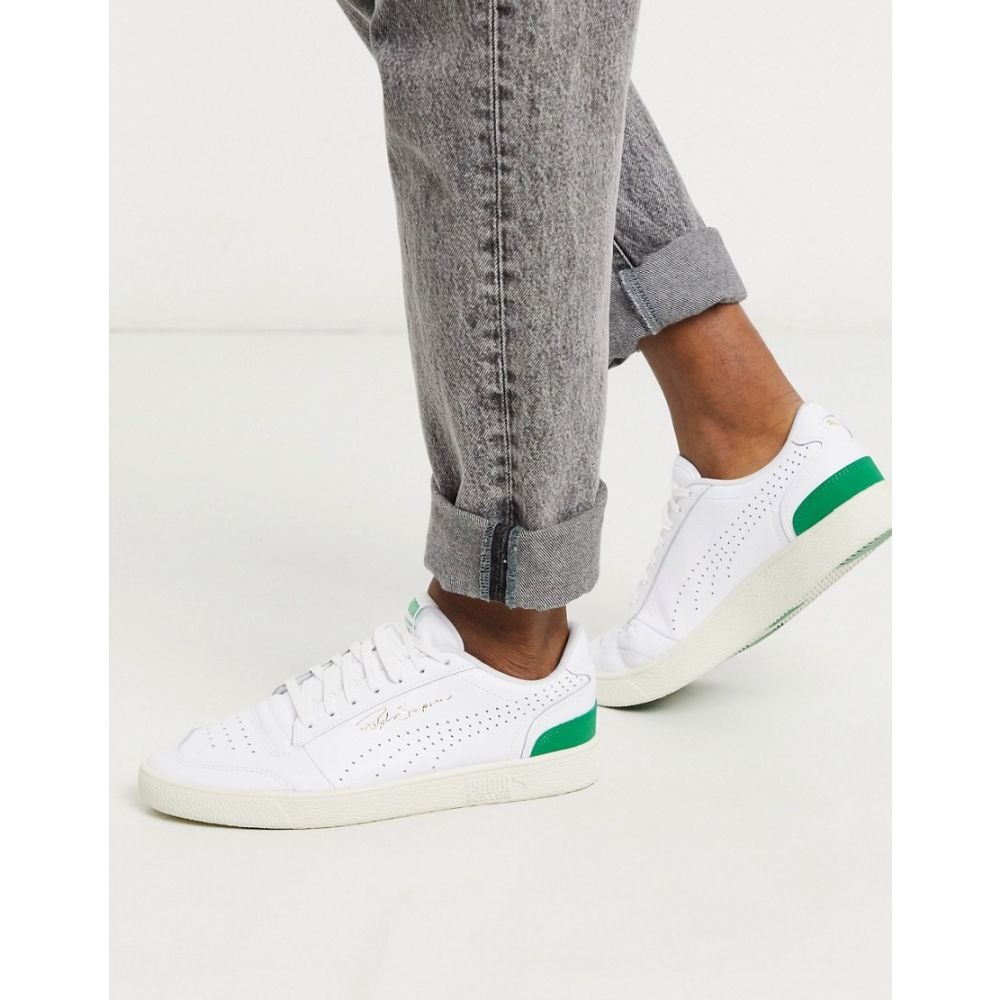 プーマ Puma メンズ スニーカー シューズ・靴【Ralph Sampson Perforated trainers in white & green】White/green