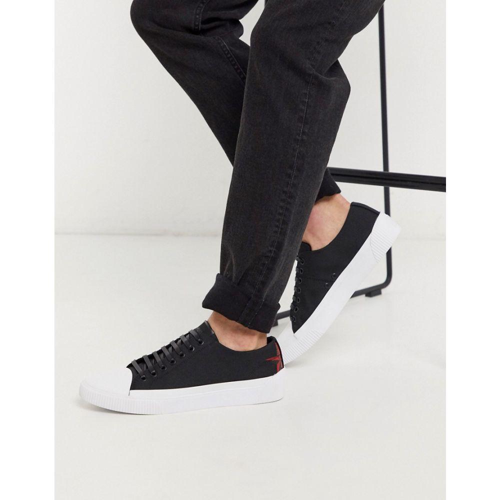 ヒューゴ ボス HUGO メンズ スニーカー ローカット シューズ・靴【Zero Ten ripstop low top plimsolls in black】Black