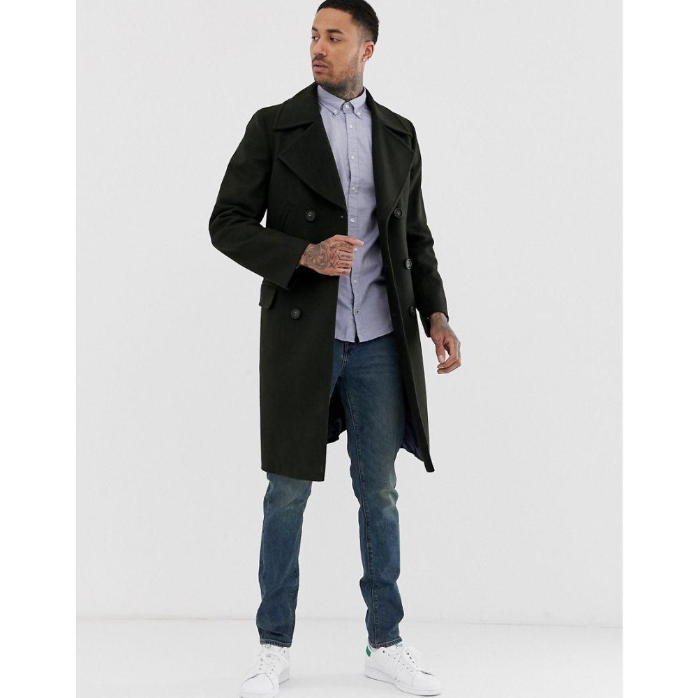 トミー ヒルフィガー Tommy Hilfiger メンズ コート アウター【long double breasted wool coat】Black