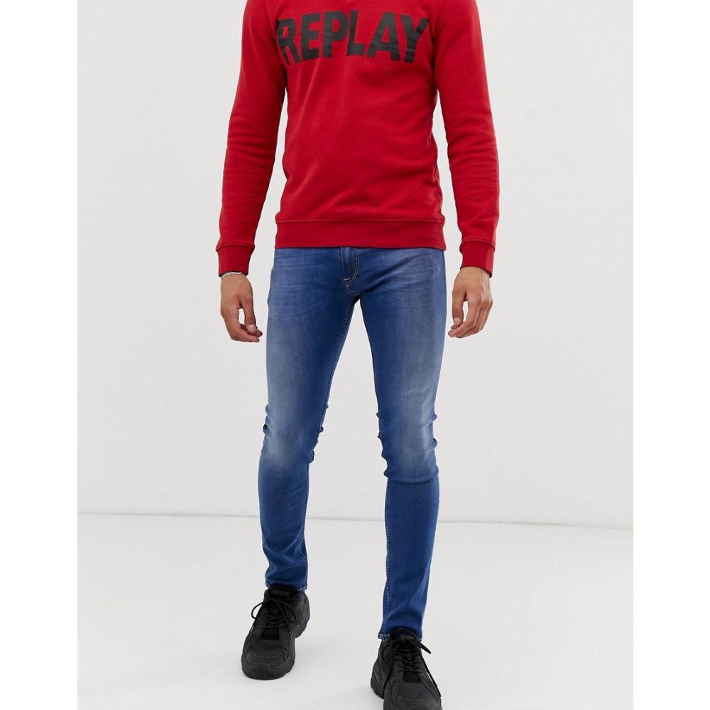 リプレイ Replay メンズ ジーンズ・デニム ボトムス・パンツ【Jondrill Power stretch skinny fit jeans in mid wash】Mid wash