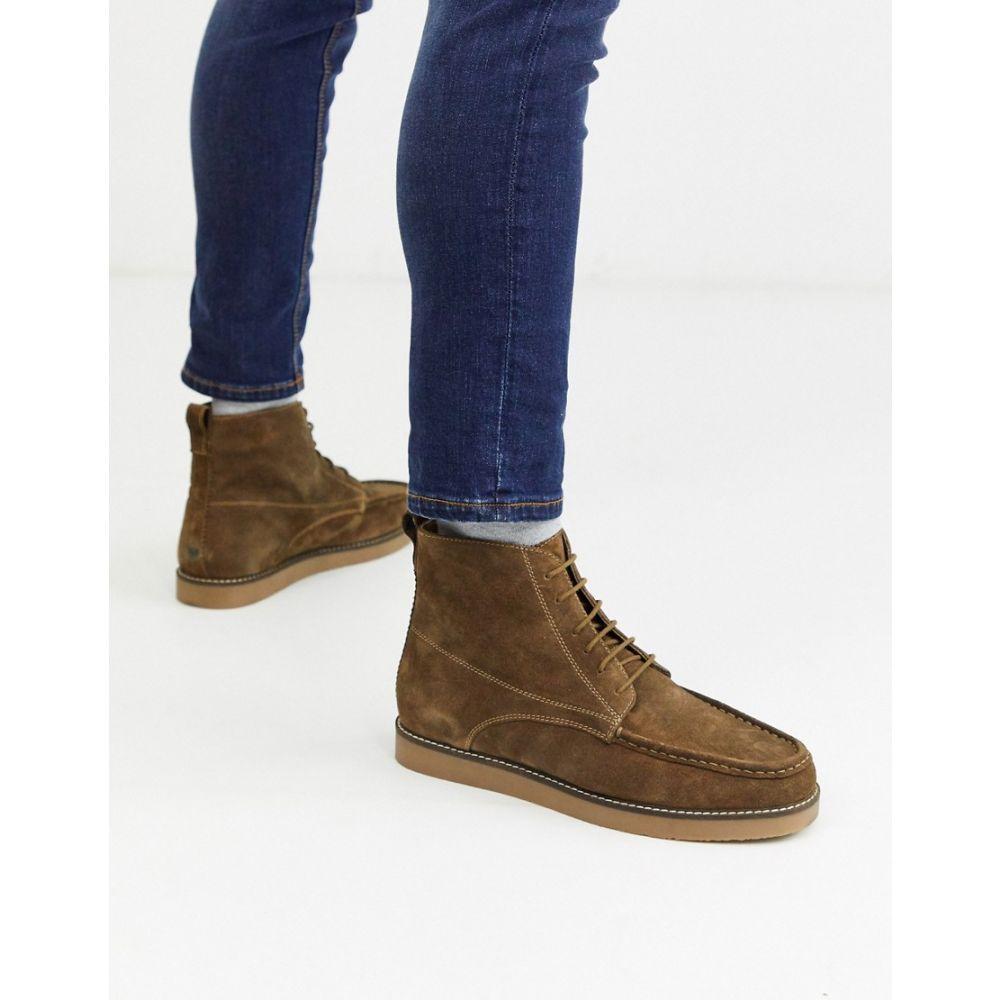 トップマン Topman メンズ ブーツ モカシン レースアップブーツ シューズ・靴【lace up moccasin boot in tan】Tan