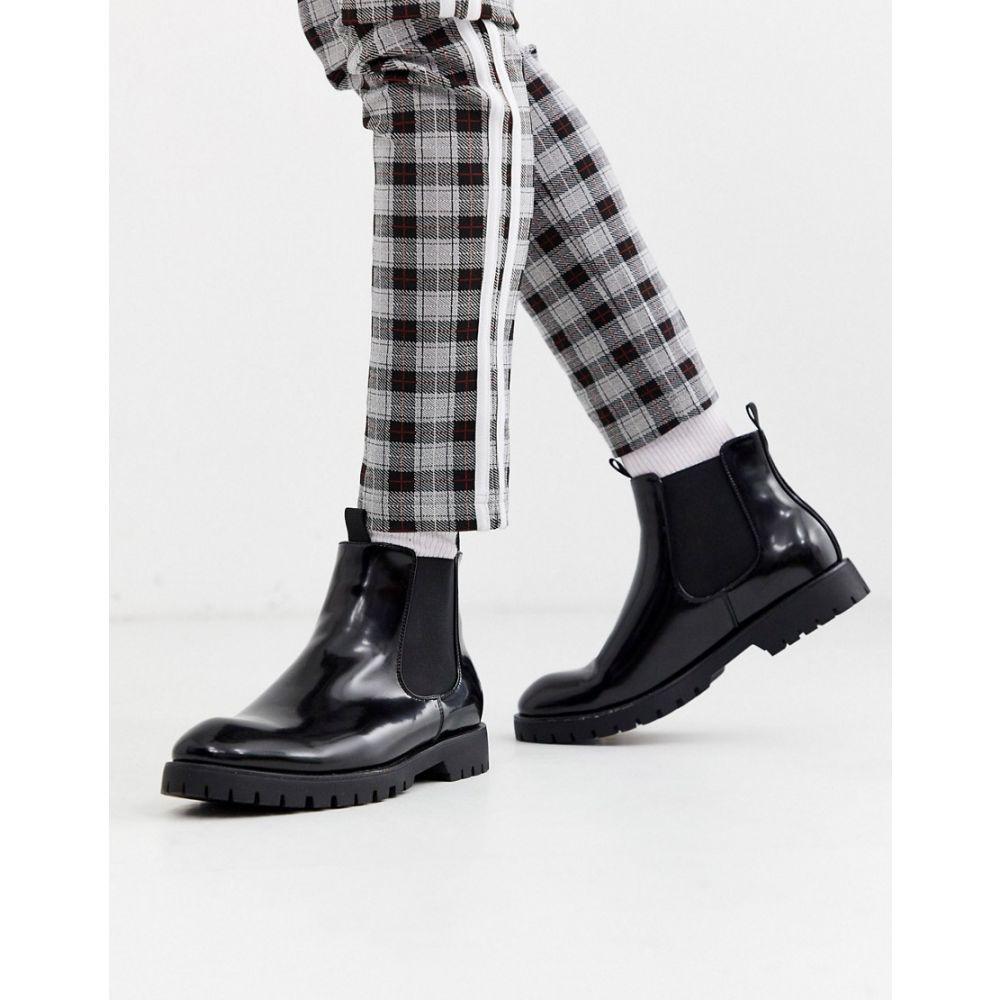 トリュフコレクション Truffle Collection メンズ ブーツ チェルシーブーツ チャンキーヒール シューズ・靴【chunky chelsea boot in black】Black