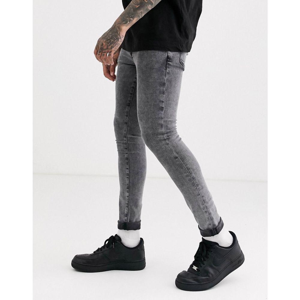 リバーアイランド River Island メンズ ジーンズ・デニム ボトムス・パンツ【super skinny jeans in grey】Grey