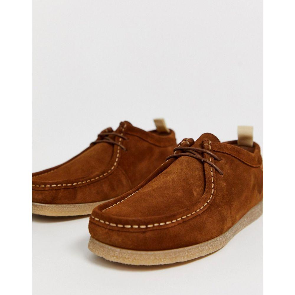 リバーアイランド River Island メンズ スリッポン・フラット モカシン シューズ・靴【leather moccasin in brown】Brown