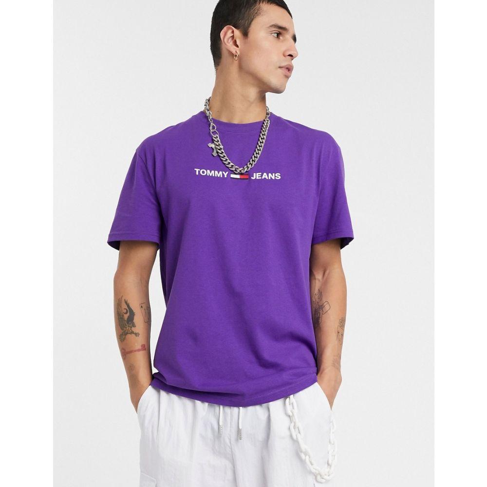 トミー ジーンズ Tommy Jeans メンズ Tシャツ トップス【chest flag logo t-shirt in purple】Royal purple