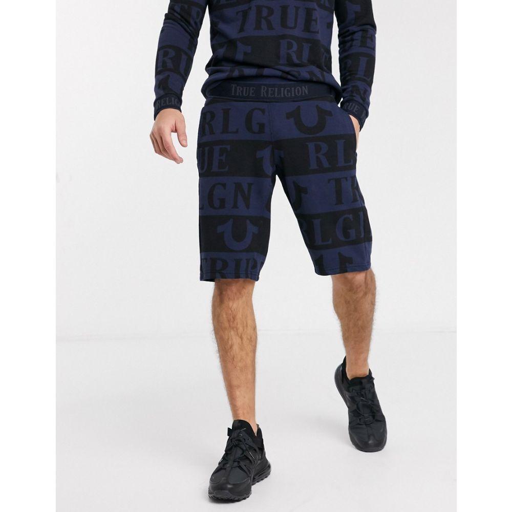 トゥルー レリジョン True Religion メンズ ショートパンツ ボトムス・パンツ【all over print sweat shorts in navy】Navy