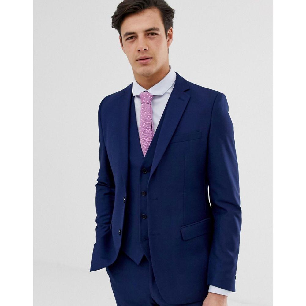 フレンチコネクション French Connection メンズ スーツ・ジャケット アウター【slim fit plain suit jacket】Blue