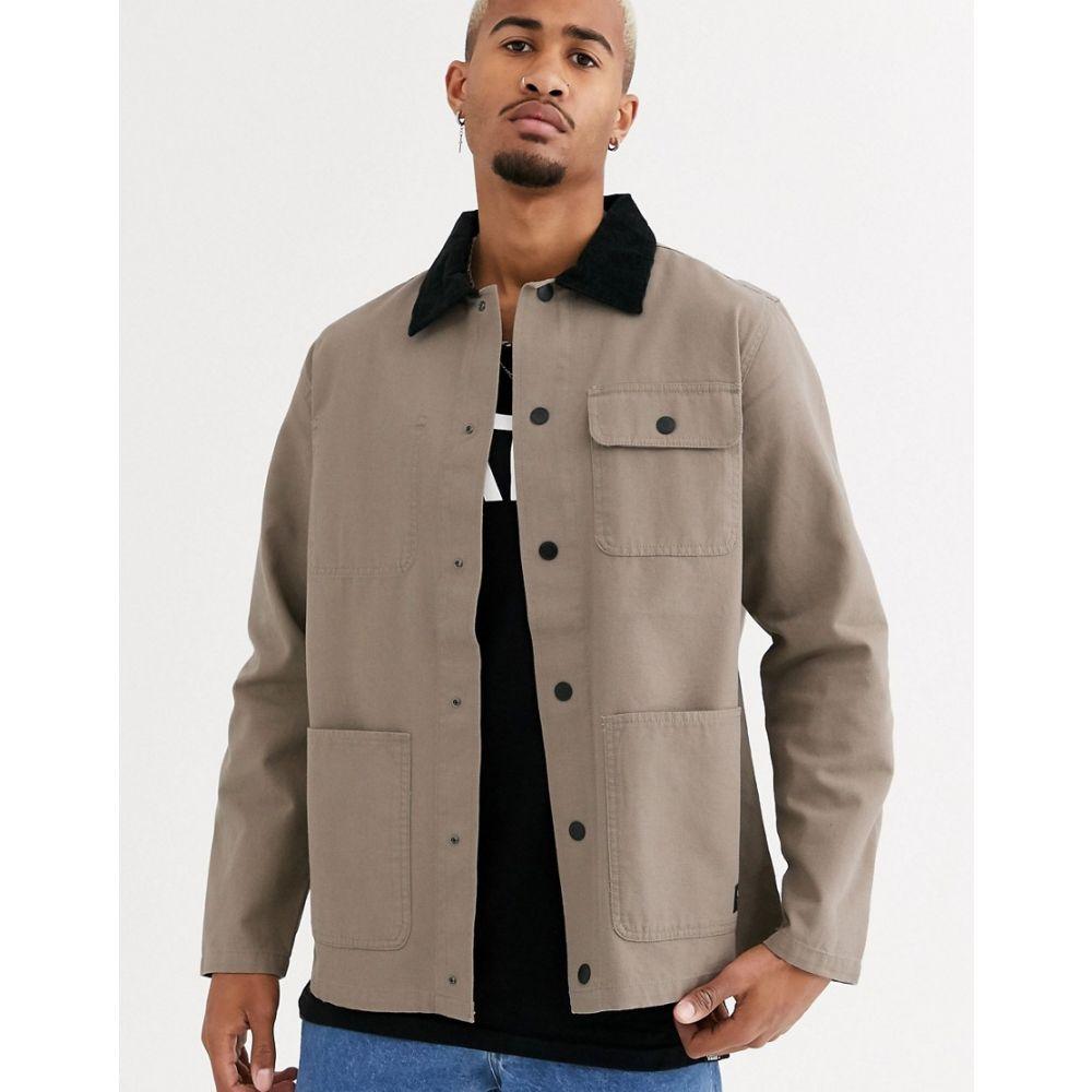 ヴァンズ Vans メンズ コート アウター【Drill chore coat in beige】Brown