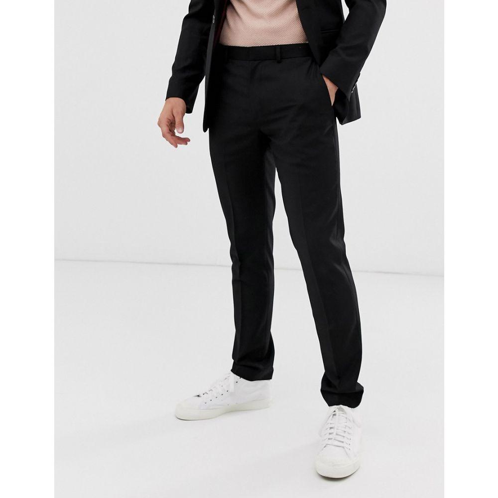 トップマン Topman メンズ スラックス ボトムス・パンツ【skinny suit trousers in black】Black
