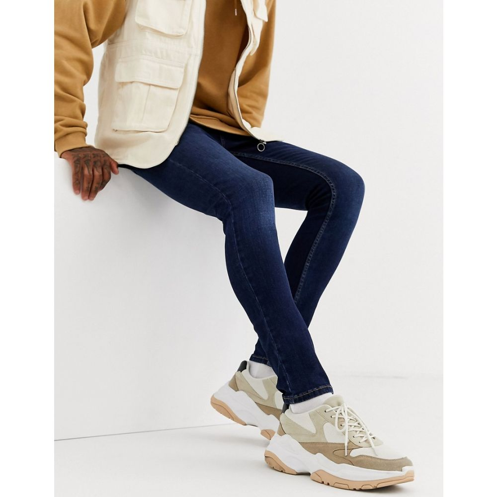 トップマン Topman メンズ ジーンズ・デニム ボトムス・パンツ【super spray on jeans in blue wash】Blue
