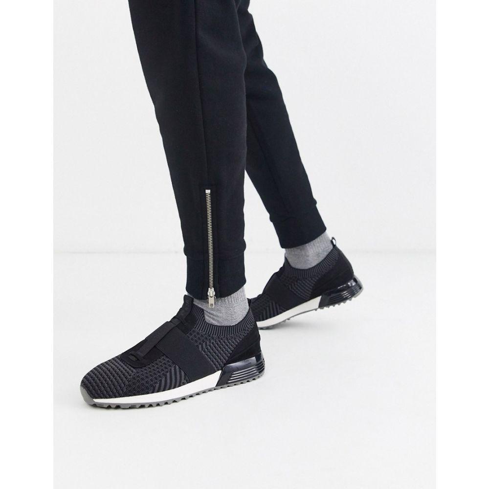 リバーアイランド River Island メンズ ランニング・ウォーキング スリッポン シューズ・靴【slip on running trainer in black】Black