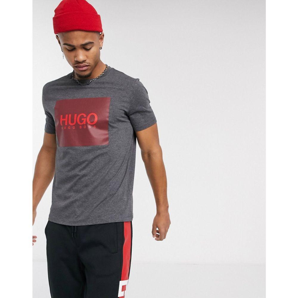 ヒューゴ ボス HUGO メンズ Tシャツ トップス【Dolive201 box logo t-shirt in grey】Grey