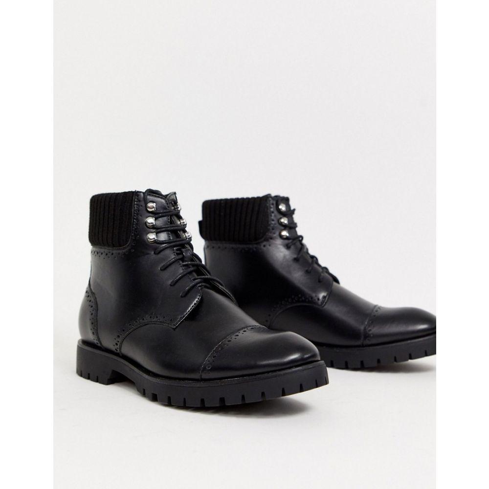 トリュフコレクション Truffle Collection メンズ ブーツ レースアップブーツ シューズ・靴【chunky lace up boot in black】Black