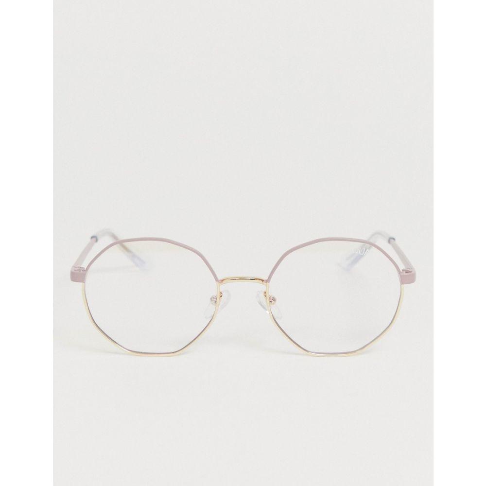 キー オーストラリア Quay Australia ユニセックス メガネ・サングラス 【Eclectic round 青 light lens glasses in ピンク】ピンク
