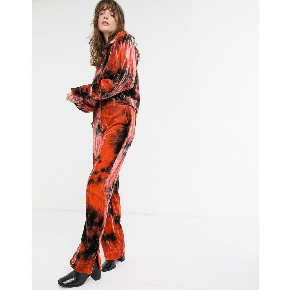 アンドアザーストーリーズ & Other Stories レディース ボトムス・パンツ 【velvet tie-dye trousers in orange】Tie dye