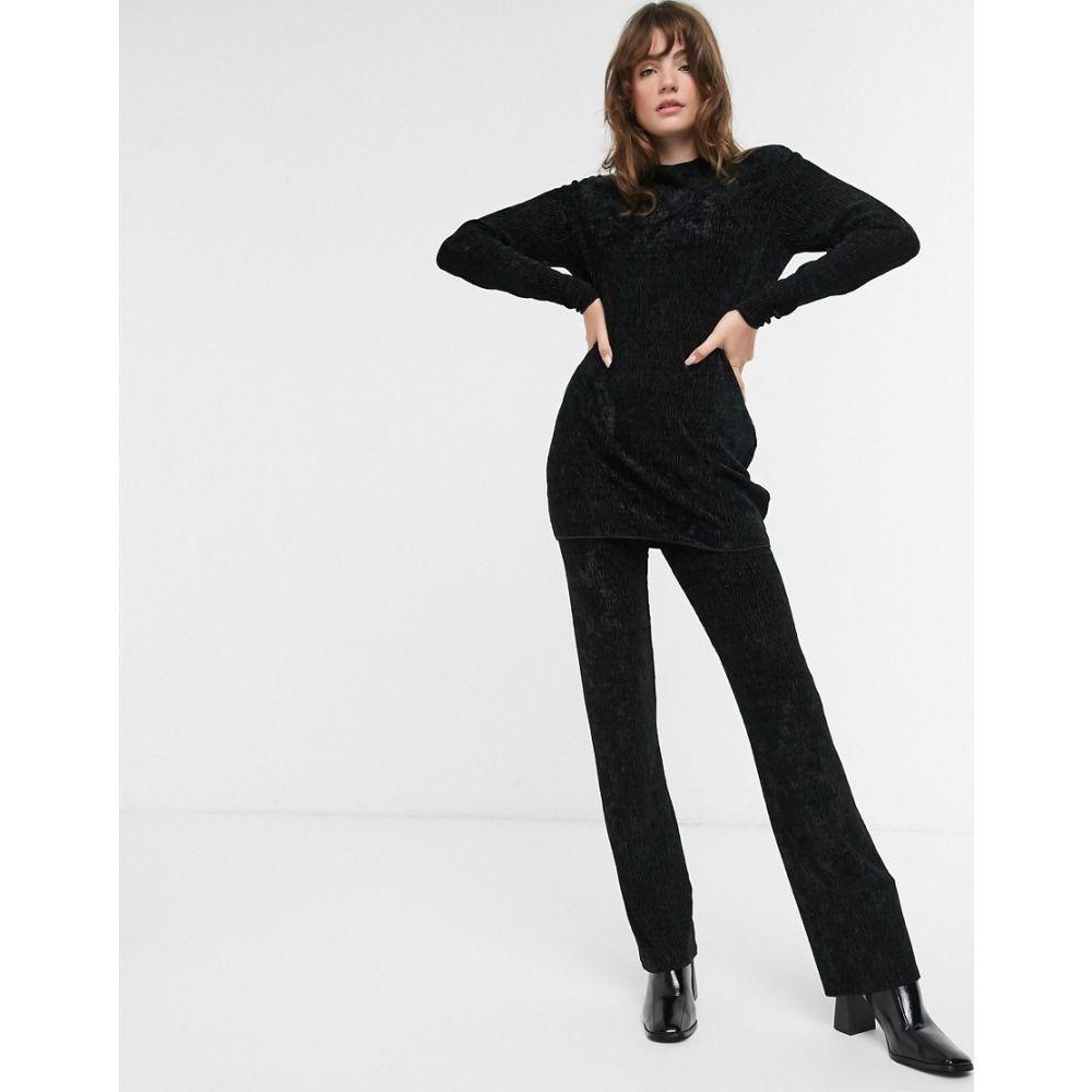 アンドアザーストーリーズ & Other Stories レディース ボトムス・パンツ 【velvet co-ord straight leg trouser in black】Black