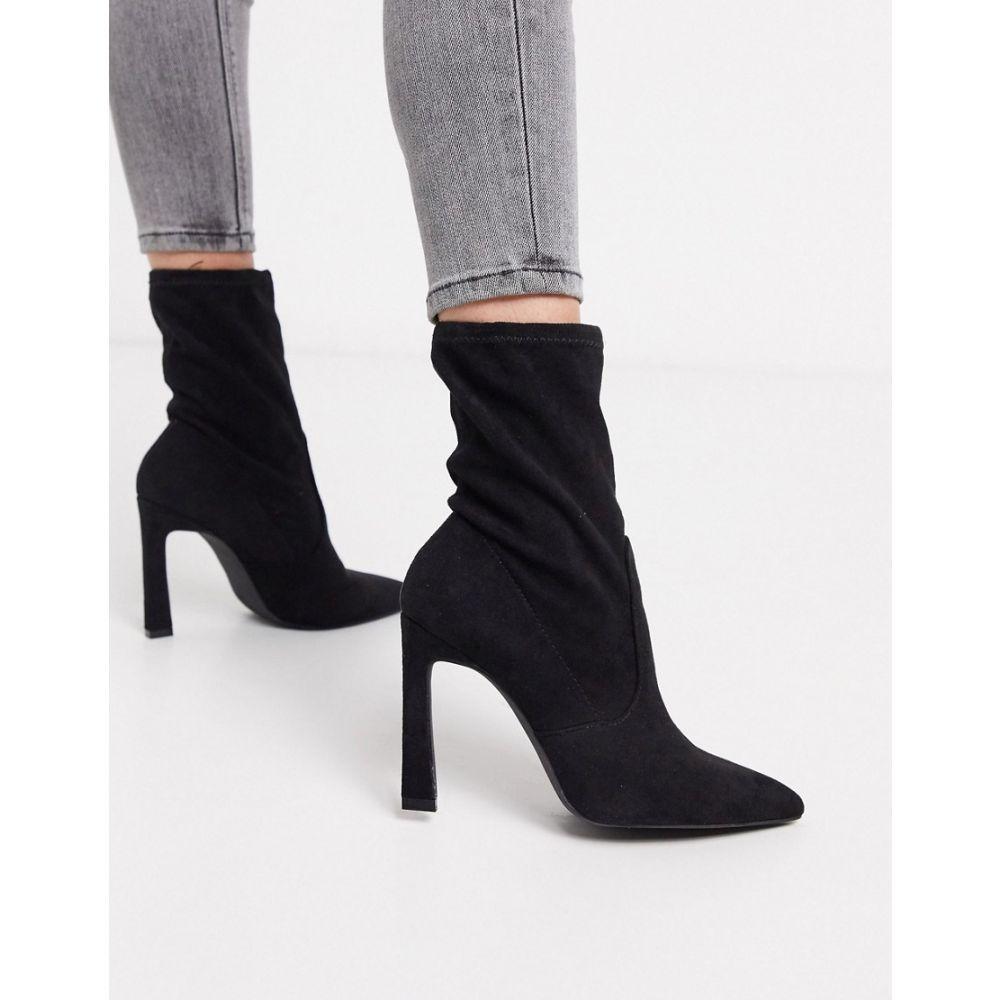 ミス セルフリッジ Miss Selfridge レディース ブーツ シューズ・靴【heeled sock boots in black】Black