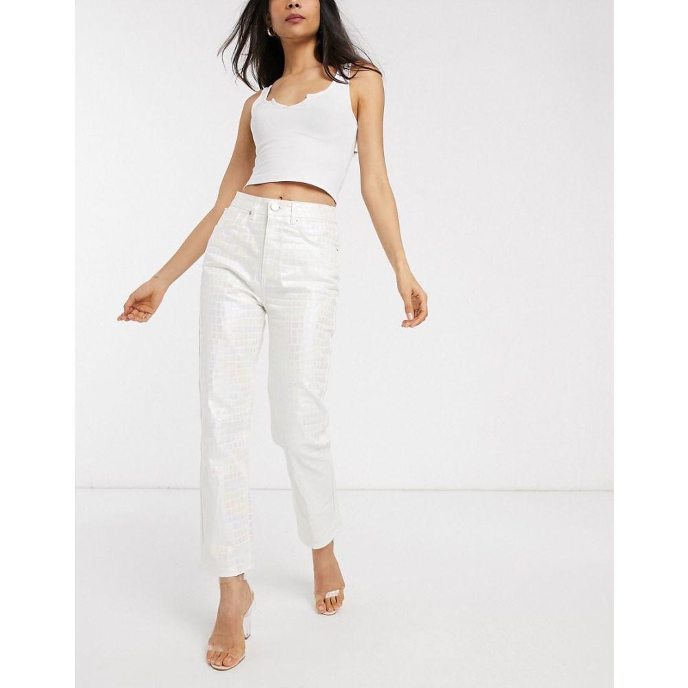 エイソス ASOS DESIGN レディース ジーンズ・デニム ボトムス・パンツ【Florence authentic straight leg jeans in iridescent croc】Multi