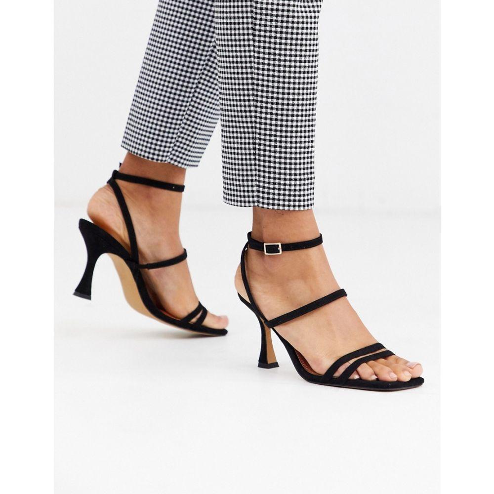 エイソス ASOS DESIGN レディース サンダル・ミュール シューズ・靴【Hailee mid-heeled sandals in black】Black