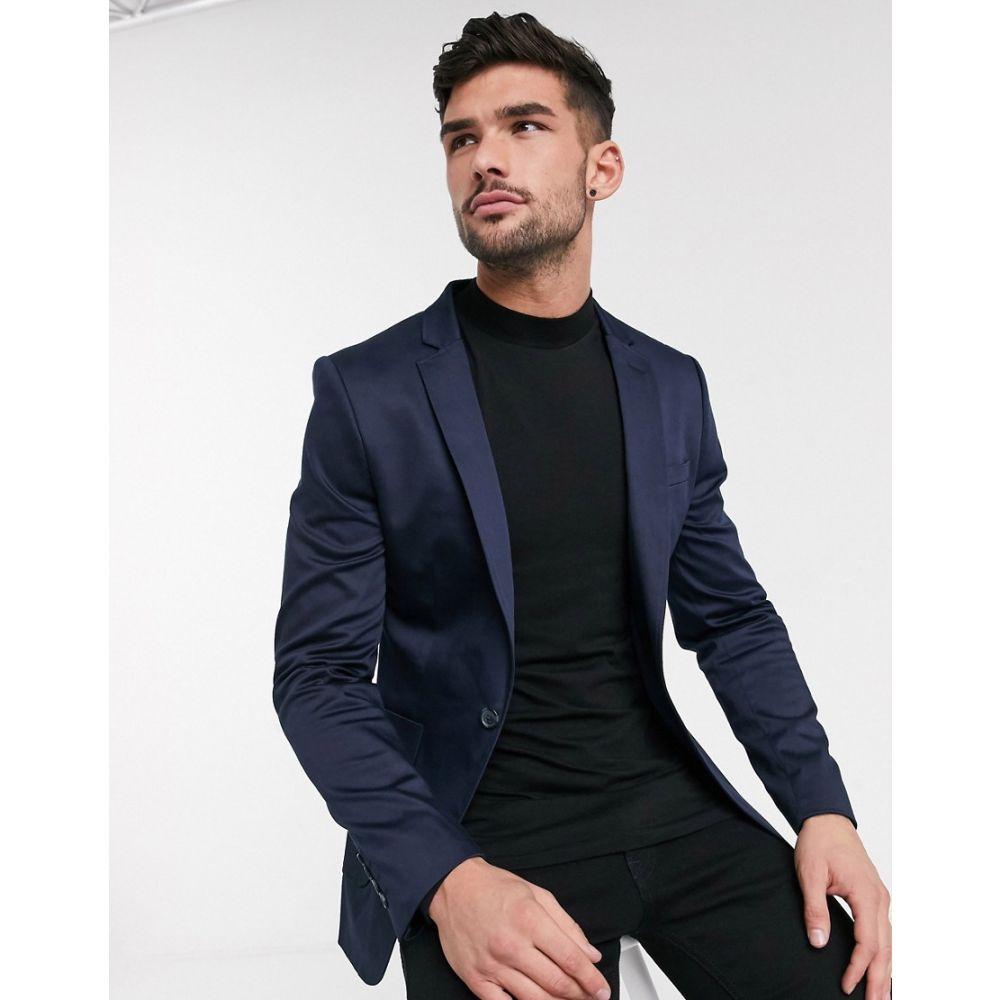 エイソス ASOS DESIGN メンズ スーツ・ジャケット アウター【super skinny cotton blazer in navy】Navy
