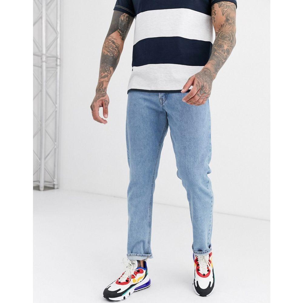 ジャック アンド ジョーンズ Jack & Jones メンズ ジーンズ・デニム ボトムス・パンツ【loose fit bleached jeans in blue】Blue denim
