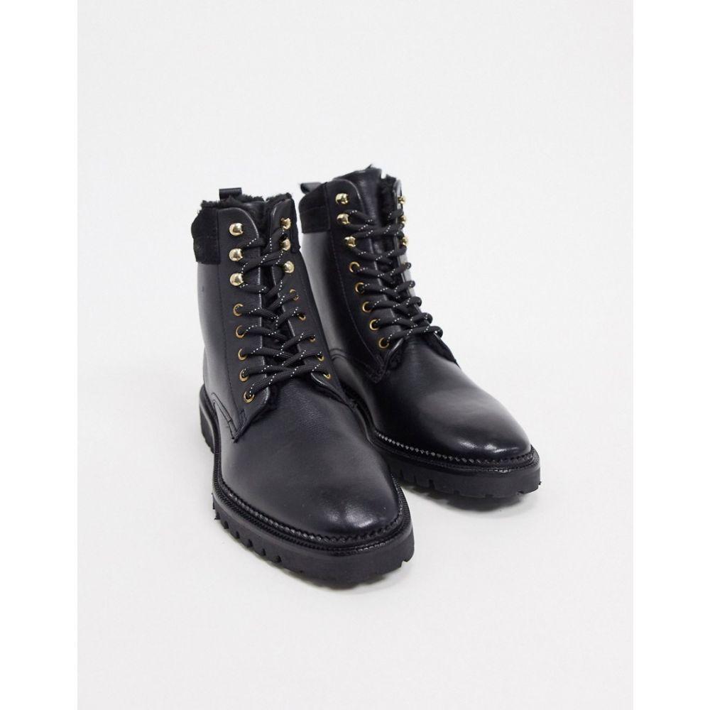 アンドアザーストーリーズ & Other Stories レディース ブーツ スノーブーツ レースアップブーツ シューズ・靴【real leather lace up snow boots in black】Black