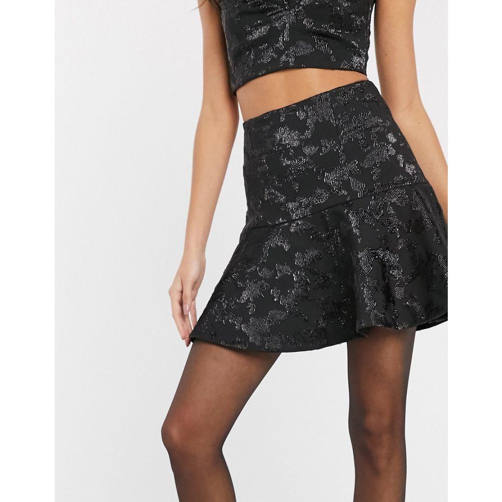 アンドアザーストーリーズ & Other Stories レディース ミニスカート スカート【structured jacquard flippy mini skirt in black】Black