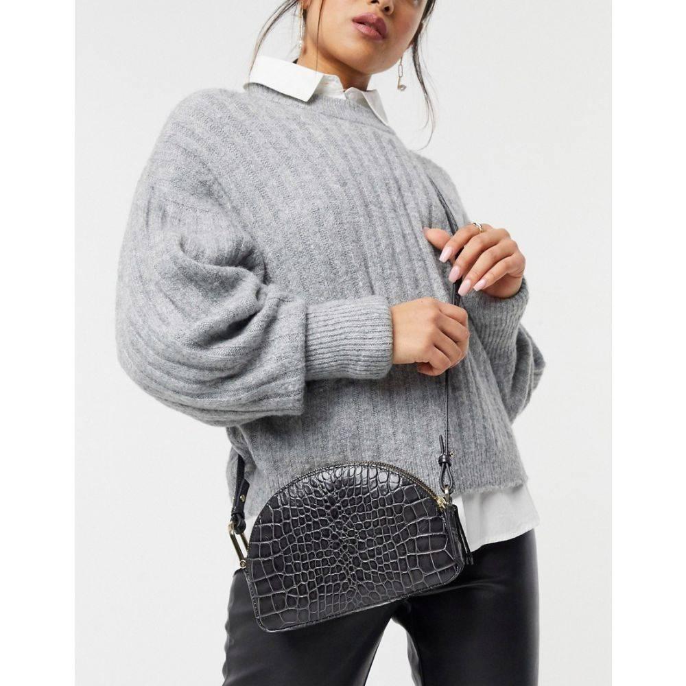 アンドアザーストーリーズ & Other Stories レディース バッグ 【mock croc leather mini bag in grey】Grey croc print