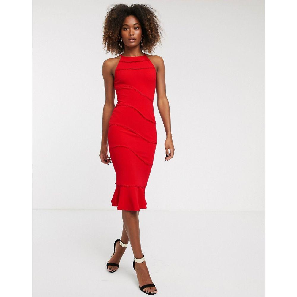 アックスパリス AX Paris レディース ワンピース ミドル丈 ワンピース・ドレス【textured midi dress】Red:フェルマート