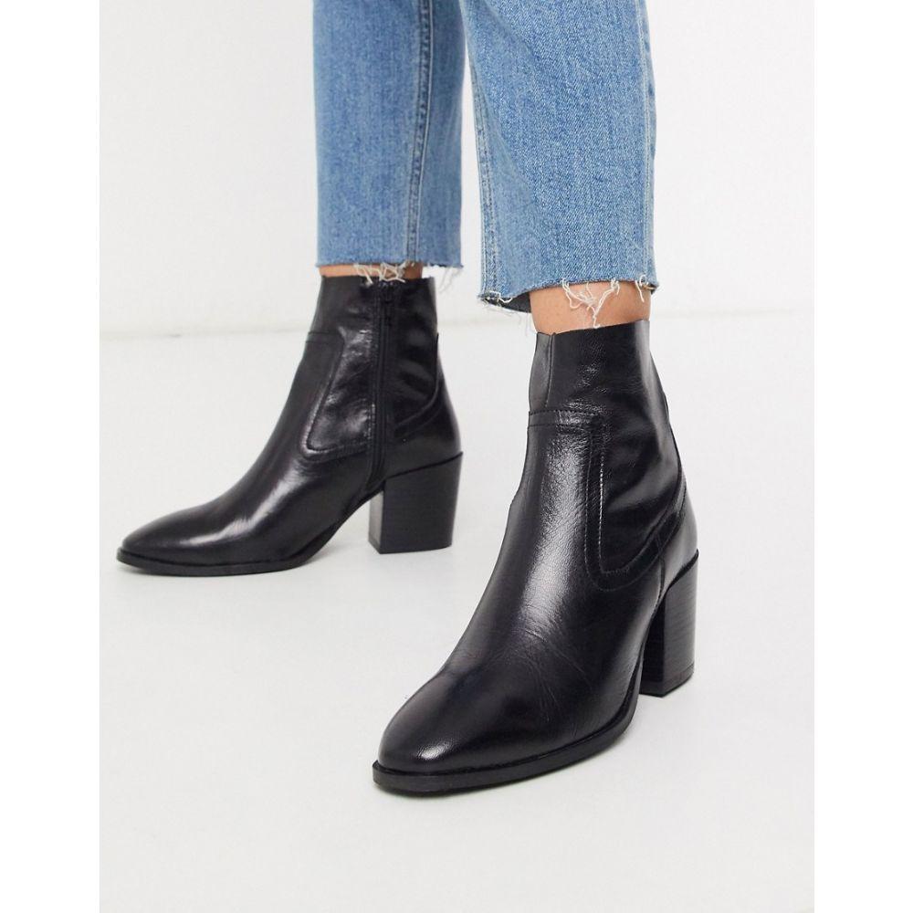 リバーアイランド River Island レディース ブーツ シューズ・靴【pull on heeled boot in black】Black