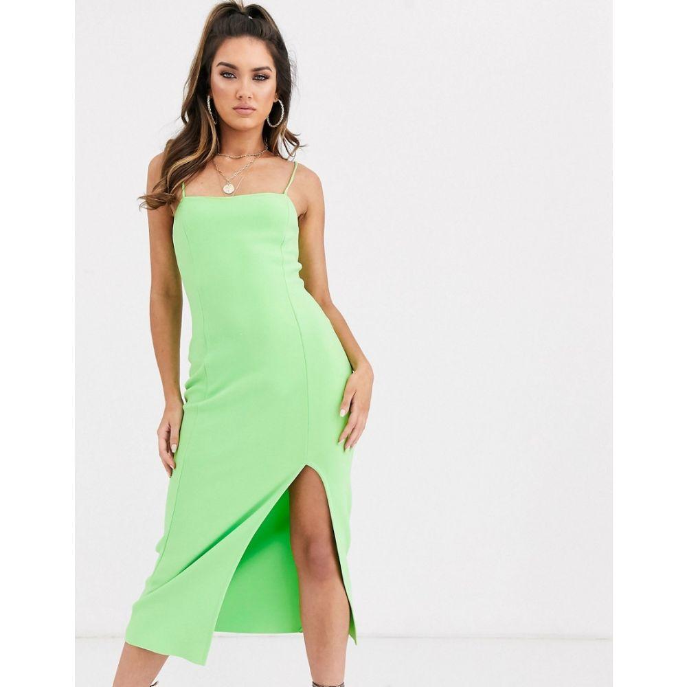 ベック アンド ブリッジ Bec & Bridge レディース ワンピース ミドル丈 ワンピース・ドレス【missy neon green midi dress】Neon green