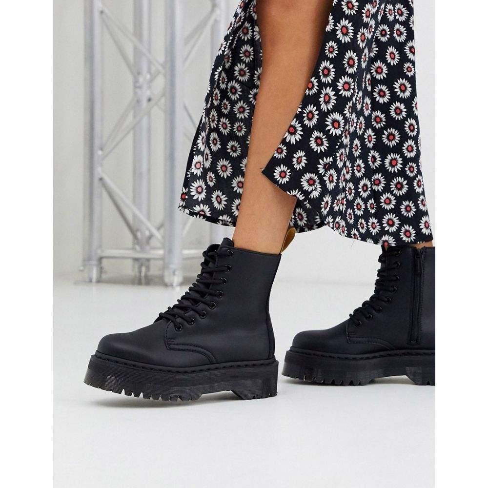 ドクターマーチン Dr Martens レディース ブーツ チャンキーヒール シューズ・靴【Jadon chunky boots in vegan black】Black