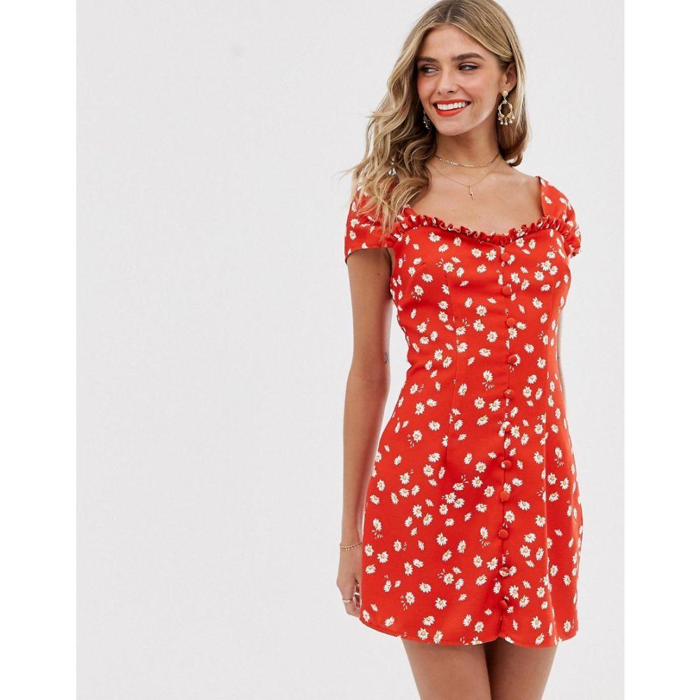 ファインダーズ キーパーズ Finders Keepers レディース ワンピース ミニ丈 ワンピース・ドレス【Mae Mini Dress】Red daisy